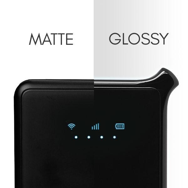 Matte v. Glossy Sapphire 2